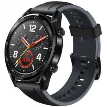 Ceas inteligent Smartwatch Huawei Watch GT Fortuna-B19S, Amoled 1.39inch, 16MB RAM, 128MB Flash, Bluetooth (Negru)